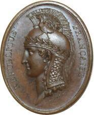 O5792 Rare Médaille Consulat Conseil État Duvivier An 8 1799 Baron Desnoyers SPL