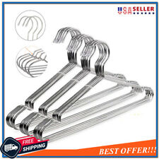 30 Pack Stainless Steel Clothes Hangers Heavy Duty Strong Metal Coat Suit Hanger