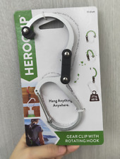 HEROCLIP Hybrid Gear Clip Medium-Silver Color Gear Clip With Rotating Hook