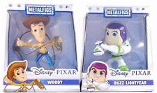 Disney Pixar Metalfigs Toy Story Buzz Lightyear & Woody Lot Of 2 New
