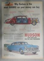 Hudson Car Ad: Most Durable Car Money Can Buy ! from 1951 Size: 11 x 15 inches