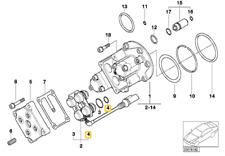 11367830829 O-ring BMW 5 Series E39 Z8 E52