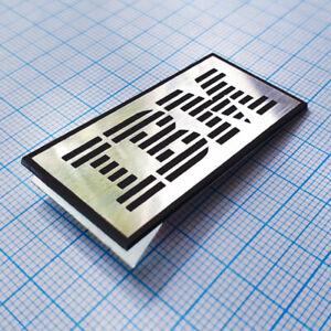 IBM - Metallic (Aluminum) Sticker Case Badge - 48mm x 24mm