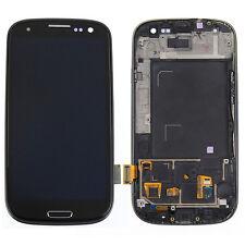 Schwarz Komplett LCD Display Touchscreen Glas Rahmen Für Samsung Galaxy S3 i9300
