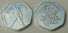 Freddie Mercury Queen Commemorative Colllectors Souvenir 50p Style Shape Coin