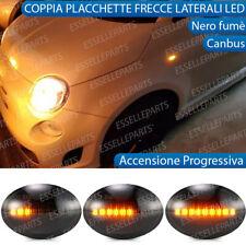COPPIA FRECCE LATERALI PROGRESSIVE A LED PER ABARTH FIAT 500 595 500C NERO FUME'