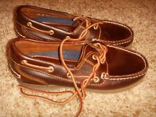 Timberland Amherst Brown Leather 2-Eye Boat Shoes 72333 Womens Size 5.5W