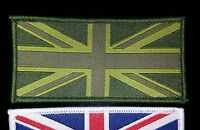 1 SUBDUED Hook + loop Union Jack Flag UK Army TRF badge badges patches soldier