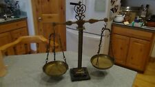 vintage brass and marble blanace scale