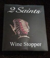 2 Saints Wine Stopper - colorful tropical fish top