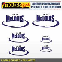 Kit completo 6 adesivi per camper MCLOUIS loghi mc louis caravan roulotte M.5