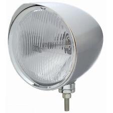 """Chrome 7"""" Billet Style """"CHOPPER"""" Headlight w/ Razor Visor - H4 Halogen Bulb"""