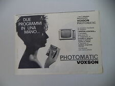 advertising Pubblicità 1961 TELEVISORE VOXSON PHOTOMATIC