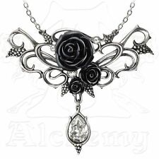 Alchemy Gothic Bacchanal Rose Pewter Necklace BRAND NEW
