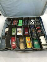 Vintage Matchbox Car Case And 16 Cars
