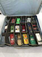 Vintage Matchbox Car Case And 16 Cars