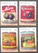 Australia-Vintage Jam Labels-Gummed set Neuf sans charnière -2018