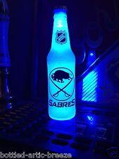 NHL Buffalo Sabres Hockey 12 oz Beer Bottle Light LED Neon Bar Mens