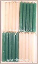 "Mini 4"" Chime Candles: 10 Green, 10 White - 20 Total (Spell Altar Ritual)"