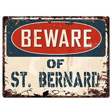 PP1453 Beware of ST. BERNARD Plate Chic Sign Home Store Wall Decor Funny Gift