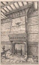 Cheminée, Salle du Conseil Maison Communale, Cruybeke, Flandre Orientale 1872