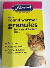 JOHNSONS ONE DOSE CAT & KITTEN WORMING TABLETS, GRANULES