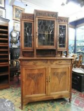 Original Antique Cupboard Liberty with Showcase Glasses a Lead Beginning of 900