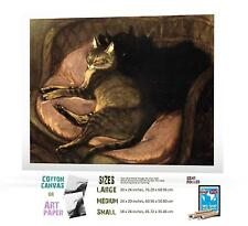 THEOPHILE STEINLEN SWISS NOUVEAU 1 CATS ON SOFA ART