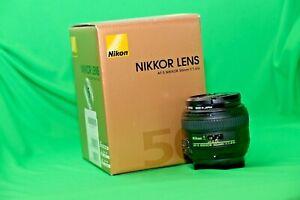 Nikon NIKKOR AF-S 50mm F/1.4G FX Lens with HOYA UV filter