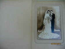 VINTAGE MATTED WEDDING PHOTO WITH SELF STANDING FRAME