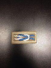 Silver Beaver (Boy Scouts) Award Knot on Tan Open Weave