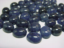 Aventurine Dyed Blue Oval Cabochon 10x8mm lot 50 pieces 149cts