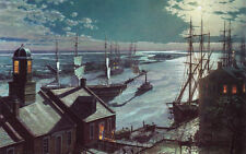 John Stobart Print - Savannah: A Moonlight Departure, Viewed from Factor's Walk