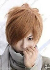 Death Note Light Yagami Short Blonde Brown Cosplay Wig +Free GIFT