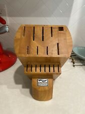 17 Slot Knife Block Chicago Cutlery Wooden