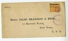 71.  PANAMA. Scott 134 tied  Colon Jan 23, 1904 to USA. Overprint moved to left.
