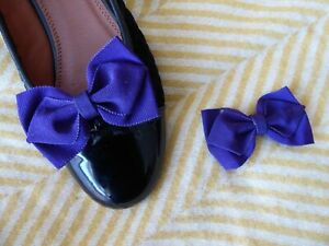 Purple Shoe Bow Clips