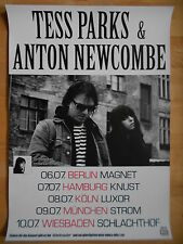 TESS PARKS & ANTON NEWCOMBE 2015 - orig.Concert Poster - Konzert Plakat  A1  NEU