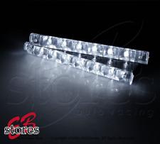 Slim Xenon White 6 LED DRL Daytime Running Light 2pcs