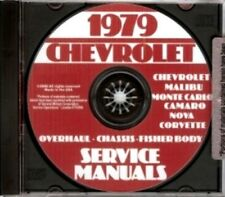 CHEVROLET 1979 Camaro, Nova, Chevelle, Malibu & El Camino Shop Manual CD