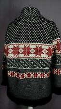 Size 20 Fair Isle 80% Lambswool Quality Buttonless Heavy Warm Printed Cardigan