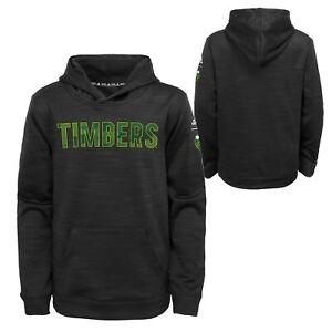 Adidas MLS Youth Boys Portland Timbers Tactical Block Ultimate Hood, Black
