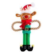 House of Paws Christmas Rudolph Rope Arm Dog Toy   Reindeer Festive Tug Medium