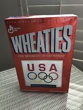 1996 Wheaties USA Olympic Team Collector Empty Orange Cereal Box Olympics U.S.