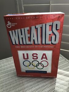 1996 Wheaties USA Olympic Team Collector Empty Orange Cereal Box Olympics U.S.