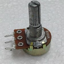 B500K 500K OHM Linear Taper Rotary Potentiometer 2 Pcs