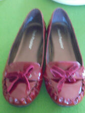 HUSH PUPPIES SIZE 8 STYLE DELTA RED PATENT LEATHER FLAT SHOES