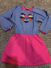 NWT MIM PI Girls Grey Pink Embroidered Dress Size 134 / 8