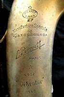 SUPER RARE ANTIQUE ALTO SAXOPHONE 'L.PIERRET A PARIS VIBRATOR'. SAXOPHONE 1936's