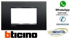 PLACCA 3 POSTI  ORIGINALE BTICINO  LNA4803AR LIVING LIGHT ANTRACITE